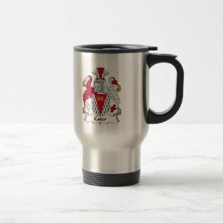 Cater Family Crest Stainless Steel Travel Mug