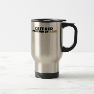 Caterer Powered By Beer Stainless Steel Travel Mug