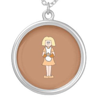 Caterer with Hot Soup. Custom Necklace