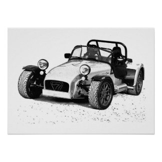 Caterham car poster