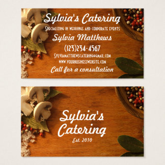 Catering Chef Event Bridal Business Card