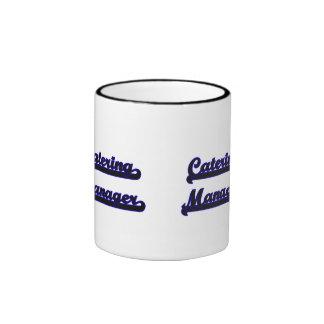 Catering Manager Classic Job Design Ringer Mug