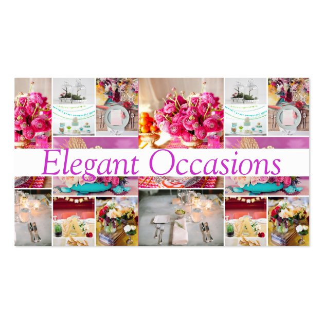 Catering party service decorations occasions business card template junglespirit Gallery