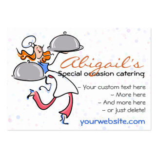 Catering Personal Gourmet Chef  template Business Cards