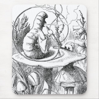 Caterpillar (Alice's Adventures in Wonderland) Mouse Mat