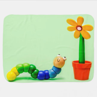 Caterpillar and Flower Funny Toys Baby Blanket