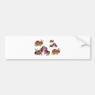 Caterpillar and Ladybug Lady Bug Graphic Bumper Stickers