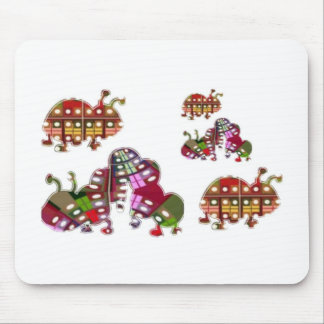 Caterpillar and Ladybug Lady Bug Graphic Mouse Pad
