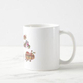 Caterpillar and Ladybug Lady Bug Graphic Coffee Mugs