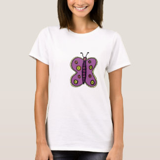 Caterpillar behind the butterfly tee