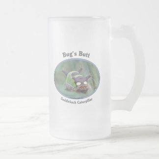 Caterpillar Bug's Butt Frosted Glass Mug
