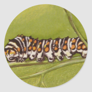 caterpillar classic round sticker