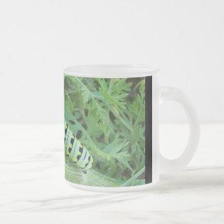 Caterpillar Frosted Glass Mug