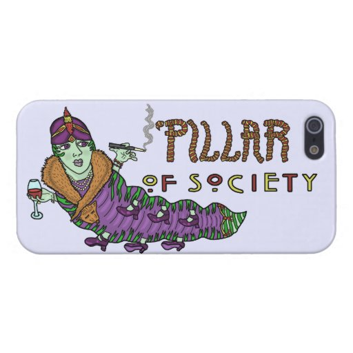 Caterpillar of Society Animal Pun Art Deco iPhone 5 Cover