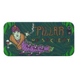 Caterpillar of Society Animal Pun iPhone 5/5S Cases