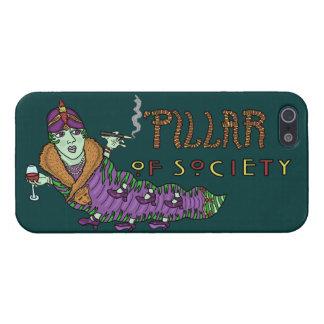Caterpillar of Society Animal Pun iPhone 5 Case