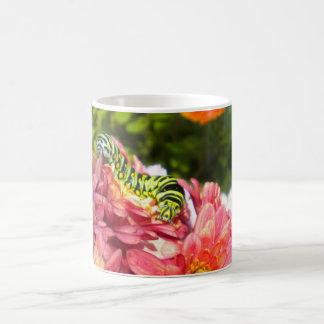Caterpillar on Mums Mug