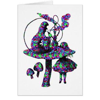 Caterpillar Psychadelic Card