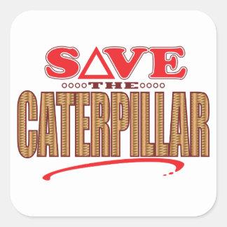 Caterpillar Save Square Sticker