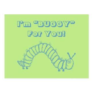 Caterpillar School Kids Valentines Day Post Card