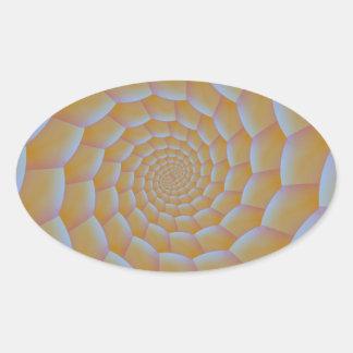 Caterpillar Spiral Oval Sticker