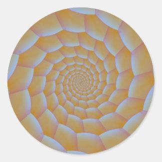 Caterpillar Spiral Round Sticker