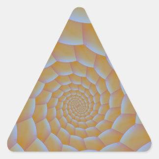 Caterpillar Spiral Triangle Sticker