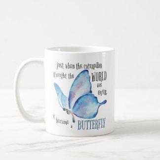 Caterpillar to Butterfly Mug