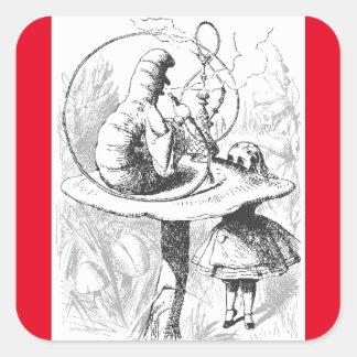Caterpillar Vintage Alice in Wonderland Stickers