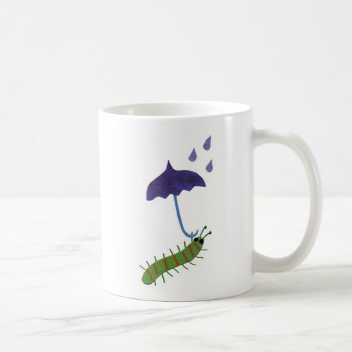 Caterpillar with Umbrella Coffee Mugs