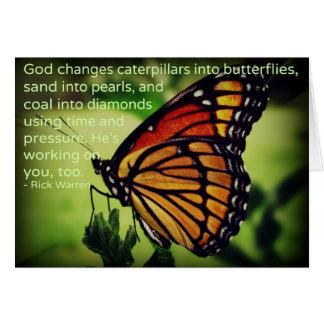 Caterpillars into Butterflies Card
