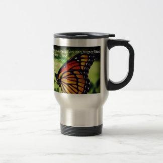 Caterpillars into Butterflies Stainless Steel Travel Mug