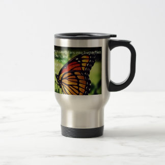 Caterpillars into Butterflies Travel Mug