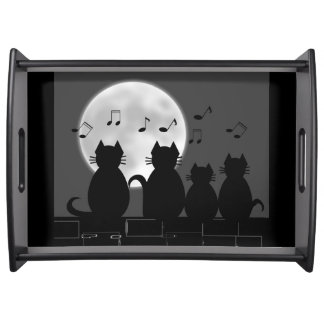 Caterwauling by moonlight serving tray