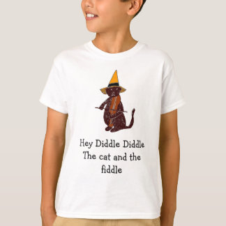catfiddle, Hey Diddle DiddleThe cat and the fiddle Tshirt