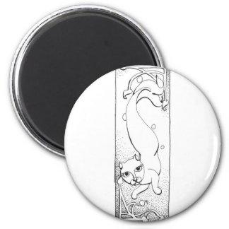 Catfish 2 6 cm round magnet