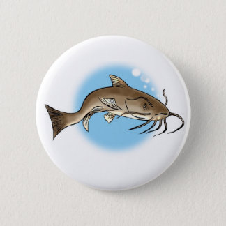 Catfish 6 Cm Round Badge