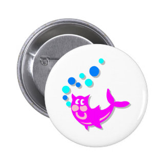 Catfish 6 Cm Round Badge