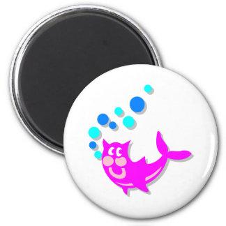 Catfish 6 Cm Round Magnet