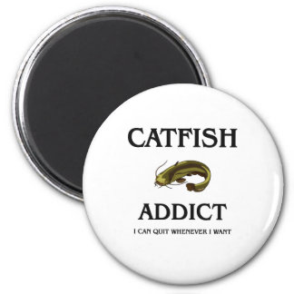 Catfish Addict Refrigerator Magnets