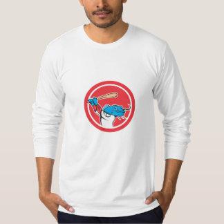 Catfish Baseball Player Batting Cartoon T Shirts