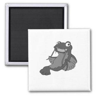 Catfish (black and white) cartoon character fridge magnet