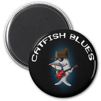 Catfish Blues 6 Cm Round Magnet