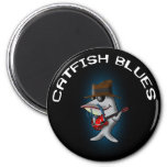Catfish Blues Fridge Magnet