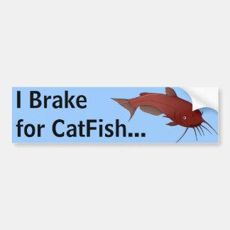 CatFish Brake Break Bumper Sticker