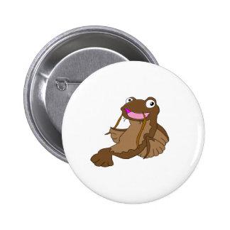 Catfish cartoon character gifts and products pin