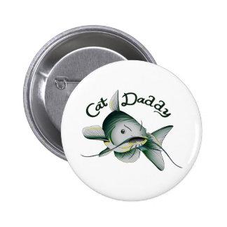 CATFISH CAT DADDY 6 CM ROUND BADGE