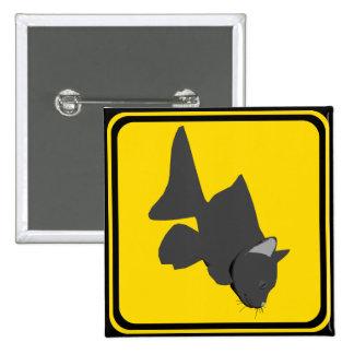 Catfish Crossing! 15 Cm Square Badge