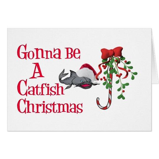 Catfish Funny Christmas Card
