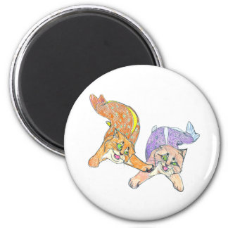 CatFish Kittens - You're It! 6 Cm Round Magnet